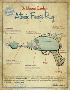 Retro Freeze Ray 8x10 art print