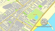 Bergen Norway printable vector street City Plan map full editable