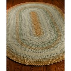 Safavieh Braided Rust / Multi Braided Oval Rug - BRD303A-OV