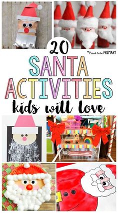 20 Santa Claus activities for kids they will love! Includes tons of crafts that would make the perfect DIY decorations, FREE printables to write Mr. C a letter, and other great ideas for Christmas.