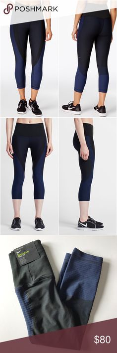 Nike Zoned Sculpt Training Capri Leggings •The Nike Zoned Sculpt Women's Training Capris feature contoured, engineered knit fabric that helps support your muscles. Flat seams provide exceptional comfort so you can focus on your workout.  •Size Small, compression fit.  •New with tag.  •NO TRADES/HOLDS/PAYPAL/MERC/VINTED/NONSENSE. Nike Pants Leggings
