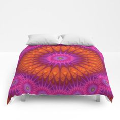 Hell Mandala Comforter by David Zydd #art #designgift