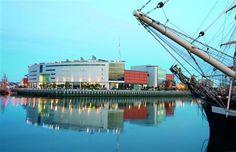 Odyssey, Belfast's Landmark Millennium Project overlooking the Harland and Wolff Shipyard.
