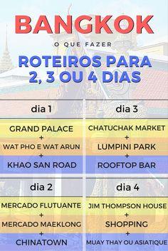 O que fazer em Bangkok: confira as principais atrações da cidade. Veja aqui sugestão de roteiro de Bangkok para 2, 3 e 4 dias.