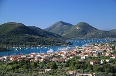 Nidri, Lefkada- Lefkas Greece, tranquil bay great anchorage spot, protected area near Meganisi. Perfect place to stay in the winter.