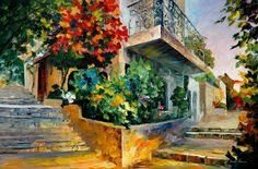"""Jerusalem - Garden On The Stones"" by Leonid Afremov ___________________________ Click on the image to buy this painting ___________________________ #art #painting #afremov #wallart #walldecor #fineart #beautiful #homedecor #design"