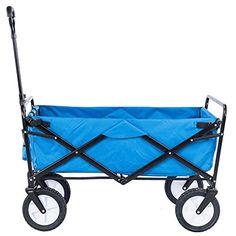 Serenita Collapsible Garden Cart Folding Utility Wagon Shopping Yard Beach  Blue U003eu003eu003e Check Out
