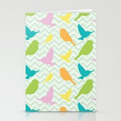 Chevron Birds Stationery Cards by Joanne Paynter - $12.00