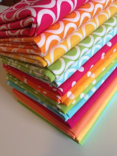 Rainbow Fabric, Best Seller, Fabric Bundle, Remix Polka Dots and Ovals by Ann Kelle, Robert Kaufman- Choose The Cut, Free Shipping Available