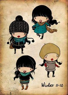 Cute chibis by Ninona