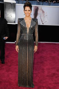 Halle Berry in sparkling Versace at the Oscars