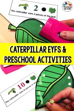 Are you looking for some fun and hands-on caterpillar activities for your preschool and EYFS students? Your students will love working on their counting and fine motor skills with this fun activity. Autism Teaching, Preschool Education, Special Education Classroom, Preschool Science, Preschool Learning, Autism Classroom, Preschool Classroom, Classroom Resources, Math Resources
