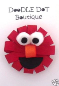 DoodleDotBoutique : Elmo Hair Bow