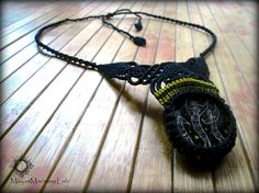 Boho Ethnic Tribal African Motifs Macrame Necklace With