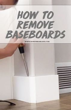 When remodeling or decorating your home, you often do projects that require baseboard removal. It's really easy, let me show you how to remove baseboards!