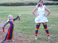 Mommy and Me Halloween Costumes- Cloud to Rainbow: matching mommy daughter…