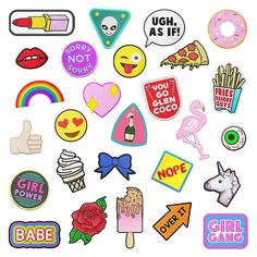 Super fun patch stickers I designed for @briteandbubbly check out her blog for the #patchgame Easter surprise egg tutorial which one is your favourite? #patches #patchesofig #briteandbubbly #patchcommunity #patchdesign #illustration #emoji #GirlGang #GirlPower #GirlBoss #design #rainbow #fun #flamingo #donut #eyeball #babe #rose #pizza #space #sorrynotsorry by jade_boylan You can follow me at @JayneKitsch