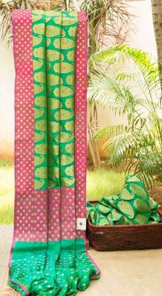 Benares silk saree