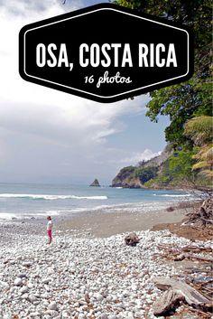 Traveling around the Osa Peninsula, Costa Rica