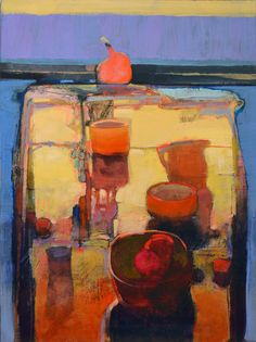 """Contemporary Painting - """"""""STILL LIFE WITH POMEGRANATE: 952"""""""" (Original Art from MARK GOULD)"""
