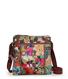Sakroots Artist Circle Medium Patch Crossbody Bag Dillards Messenger Orange