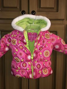 35c49cc4c London Fog Pink And Green Heart Jacket For 12 Month Girl #fashion #clothing  #