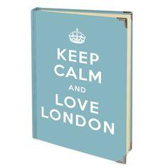 Das perfekte Notizbuch für alle London - Liebhaber mit eigenem Keep Calm Slogan.