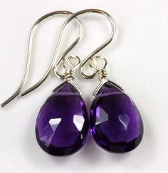 African Purple Amethyst Teardrop faceted  by Spyglassdesigns, $24.00
