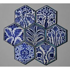 Tile, Damascus, Syria.  1420-1450 artist unknown.  From the Collection of the Victoria and Albert Museum.