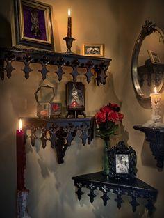 Gothic Revival Mantle Shelf Gothic Revival Gitnic Revival Etsy Victorian gothic decor Gothic decor bedroom Gothic interior