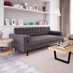 Lacey Sofa in Charcoal by Aeon Furniture