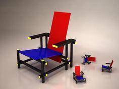A Cadeira Vermelho e Azul