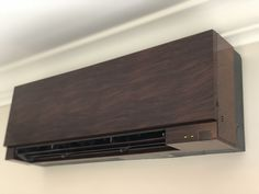 Wall Mount Ductless Mitsubishi unit, painted to match the