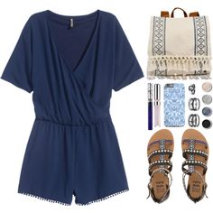 How To Wear OOTD - Blue Outfit Idea 2017 - Fashion Trends Ready To Wear For Plus Size, Curvy Women Over 20, 30, 40, 50