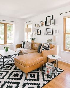 Trendy Modern Living Room Decor Ideas To Inspire Your Home - Home Decor Interior Boho Living Room, Living Room Interior, Living Room Furniture, Living Room Ideas Tan Couch, Tan Couch Decor, Tan Couches, Dining Rooms, Tan Sectional, Small Sectional