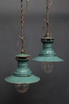 Lumax pendant rewired gas lamps ~ love the color