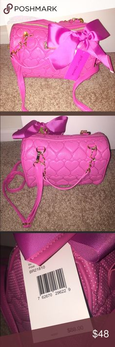NWT Betsey Johnson Cute Pink Heart quilted purse NWT Betsey Johnson Cute pink heart quilted purse Betsey Johnson Bags Shoulder Bags