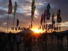 Glastonbury Festival Sunset