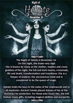 16 November, Night of Hekate Grimoire Book, Magick Book, Wiccan Spell Book, Wiccan Witch, Wicca Witchcraft, Spell Books, Hecate Goddess, Male Witch, Witchcraft For Beginners