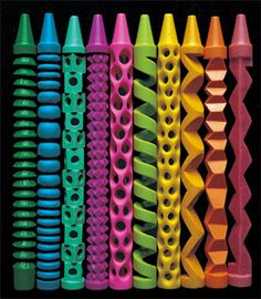 Carved Crayons - Pete Goldlust.  I need to change the name of this group to Sensational Art and Craft.  This for mine, is art.