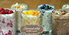 Overnight Oats: Secret To Boosting Your Weight Loss Abilities (And Avoid The Morning Rush) Oatmeal is a quick, healthy, and nutritious breakfast that will help you to start the day in a right way. It contains fiber and many other nutrients. Make Ahead Oatmeal, Overnight Oatmeal, Overnight Oats No Yogurt, Overnight Breakfast, Baked Oatmeal, Nutritious Breakfast, Breakfast Recipes, Breakfast Snacks, Greek Yogurt Breakfast