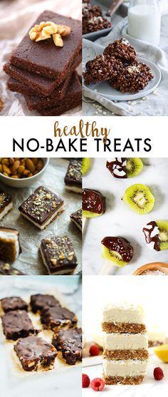 Raw Walnut Brownies - The Healthy Maven Raw Desserts, Paleo Dessert, Healthy Dessert Recipes, Healthy Treats, Healthy Baking, No Bake Desserts, Raw Food Recipes, Baking Recipes, Healthy Food
