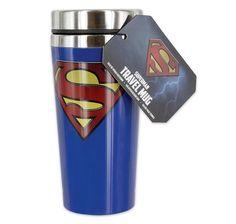 Superman Travel Mug Logo. Hier bei www.closeup.de