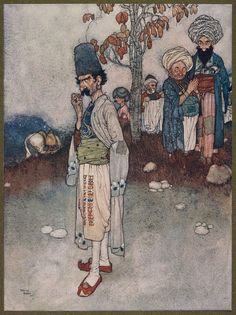 Having transformed himself by disguise. (Edmund Dulac)