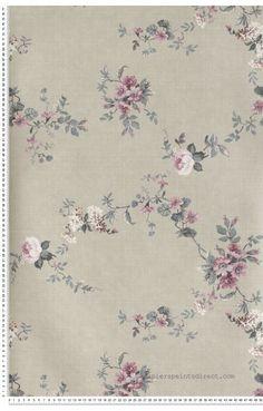 Papier Peint classique anglais roses Fleurs : papier peint direct, vente decoration murale et tapisserie murale de maison