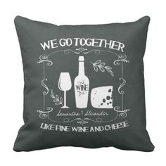 Classic Chalkboard We Go Collectively Typography Throw Pillow. ** Look into more at the image link