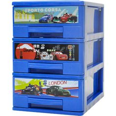 Disney Pixar Cars 3-Tier Drawers perfect makeup storage