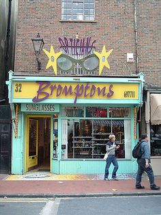Bromptons Opticians, Gardner Street, North Laine, Brighton, England by Bus Stop… Brighton Rock, Brighton England, Brighton And Hove, London England, Optical Shop, Shop Till You Drop, Optometry, Shop Fronts, England