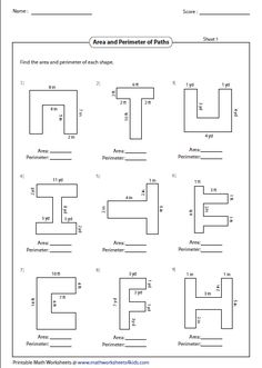 worksheets for finding perimeter of irregular shapes
