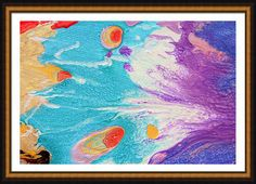 """Title: ''Sardinian Dreams''  Print on Canvas of Original #Abstract Painting Click ZOOM for details.  Sizes in Canvas (Image Size).  40.00"""" x 26.00"""" 48.00"""" x 32.00"""" 60.00"""" x ... #art #painting #print #abstract #originalart"""